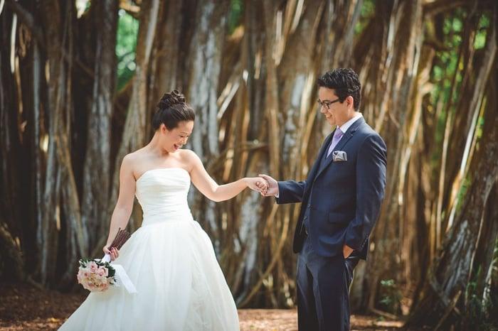 Kawela Bay Wedding Couple
