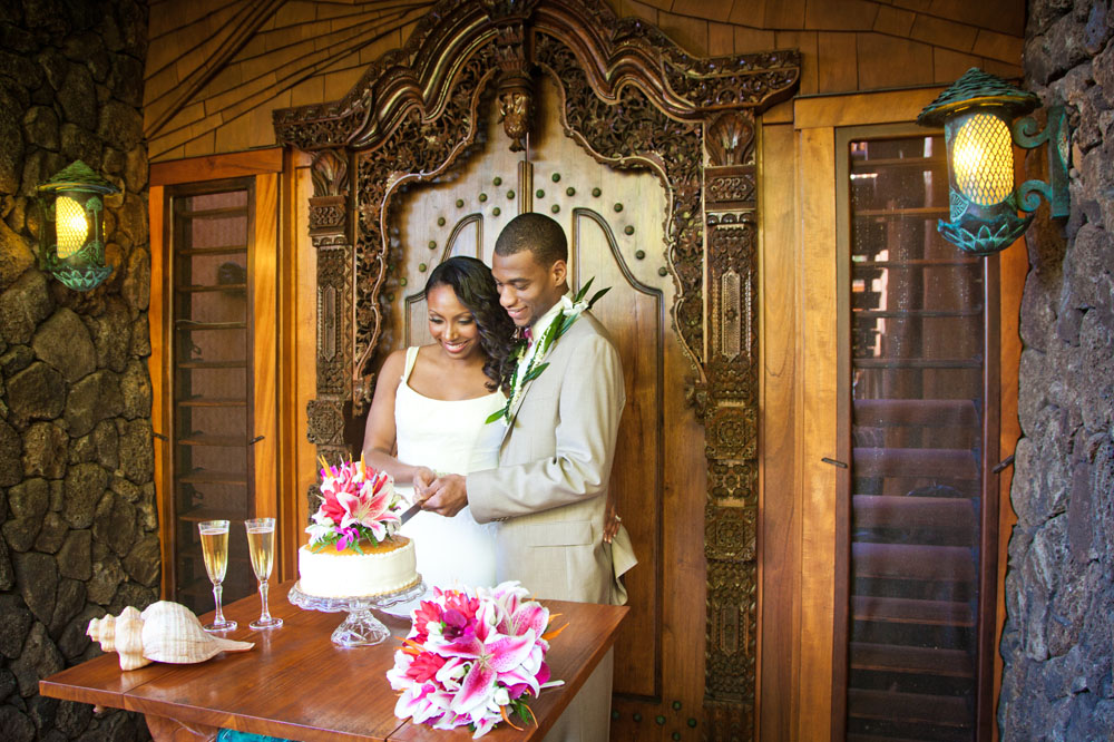 A Kalani Ilima package wedding ceremony on Oahu, Hawaii