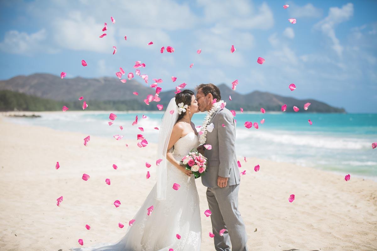 A Monarch Elite package wedding ceremony on Oahu, Hawaii