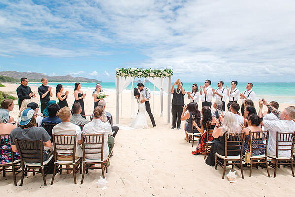 Hawaii wedding ceremony on the beach