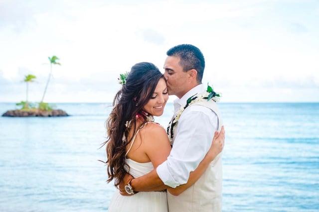 A wedding at Waialae Beach, Oahu