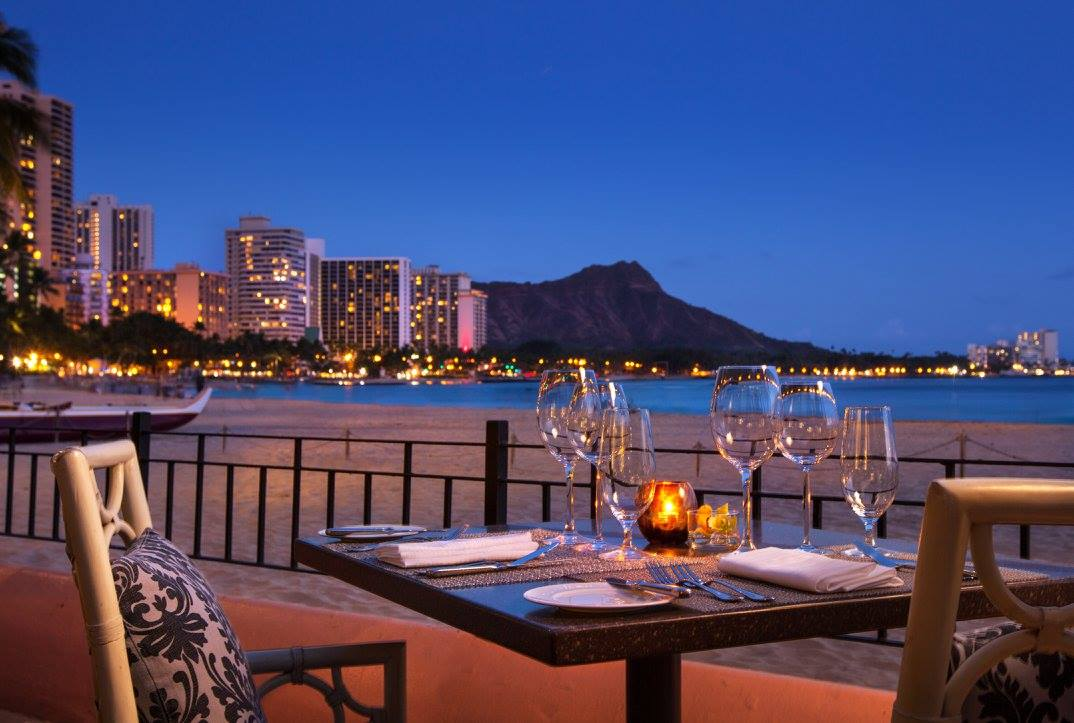 Hawaii wedding reception at Azure restaurant