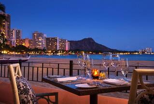 Hawaii wedding reception at Azure restaurant