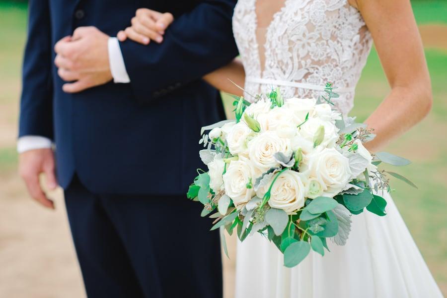 Weddings of Hawaii's florist creates custom bridal bouquet