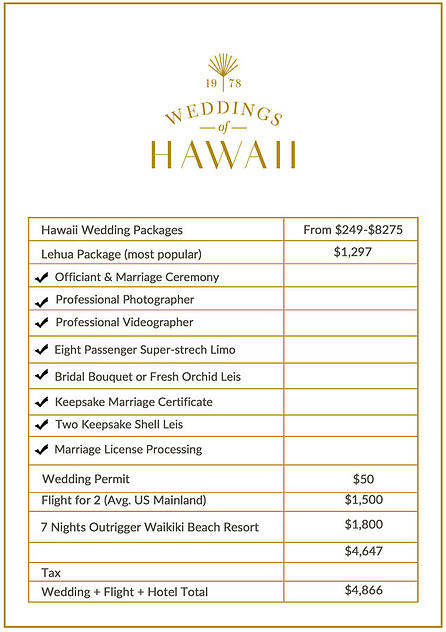 A Hawaii Destination Wedding How Much Does It Cost