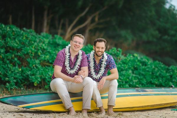 Hawaii-Same-Sex-Wedding-Couple