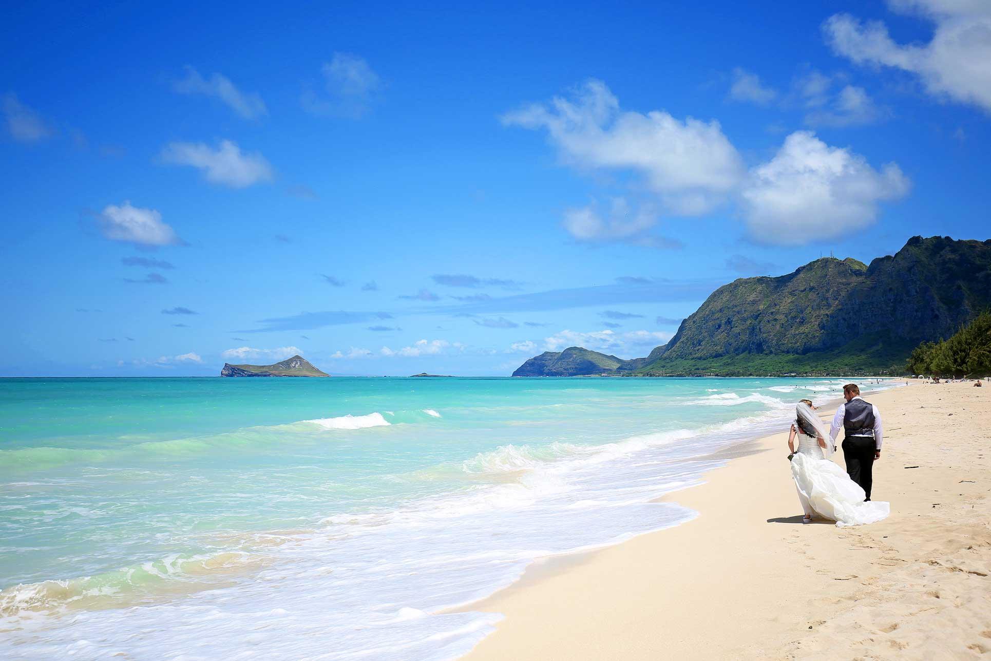 Photography example of a Hawaii beach wedding