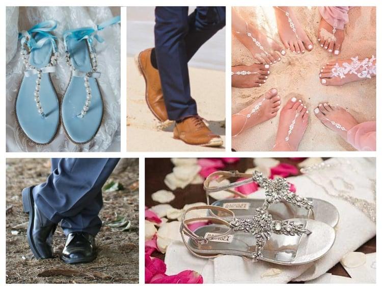 Hawaii wedding shoes examples