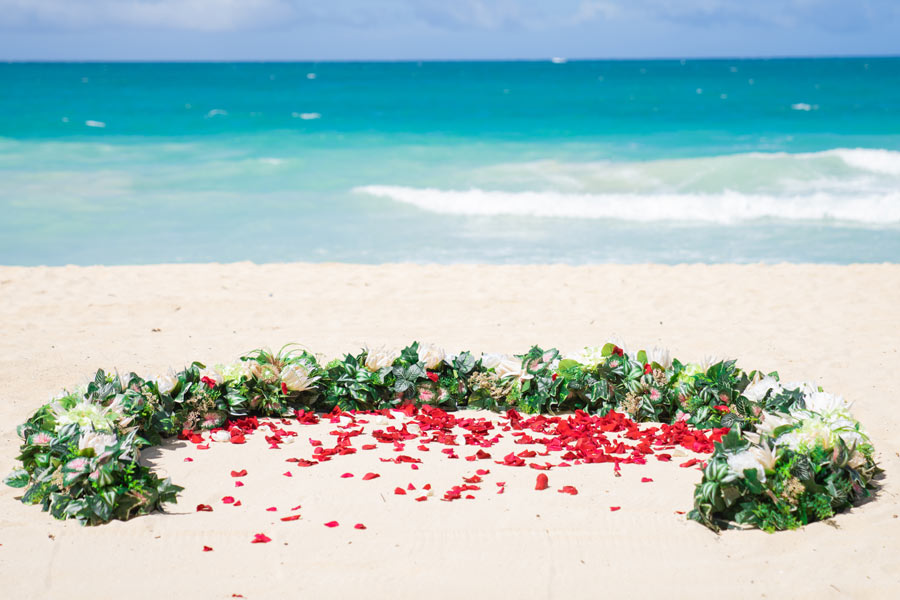 Hawaii-Wedding-with-Flower-Circle-319