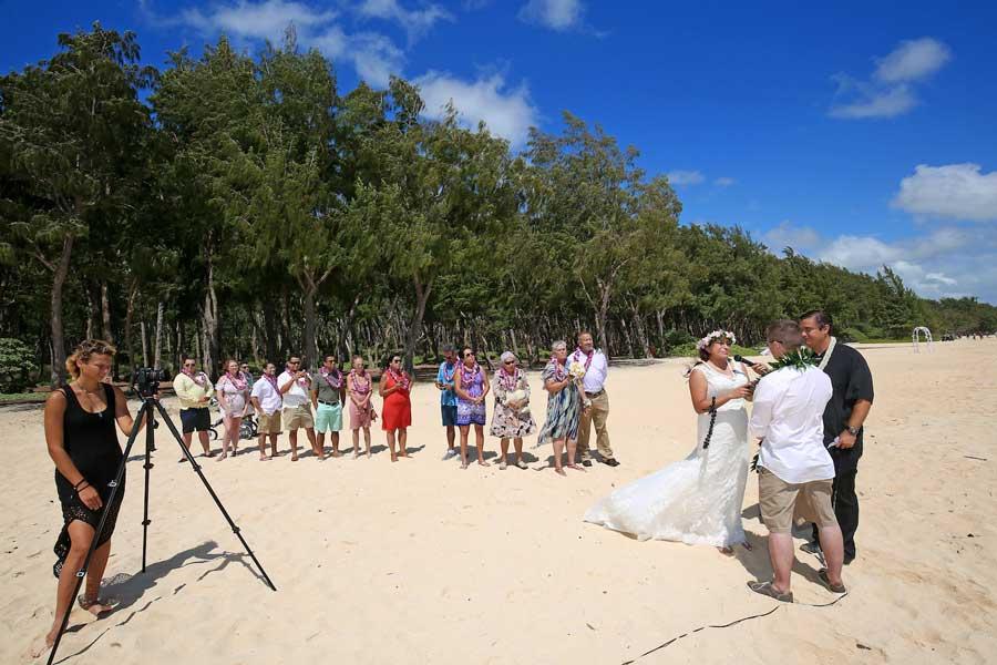 A Lehua package wedding ceremony on Oahu, Hawaii