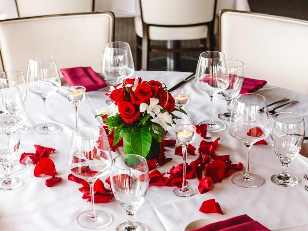 Intimate Romance Hawaii wedding reception setup