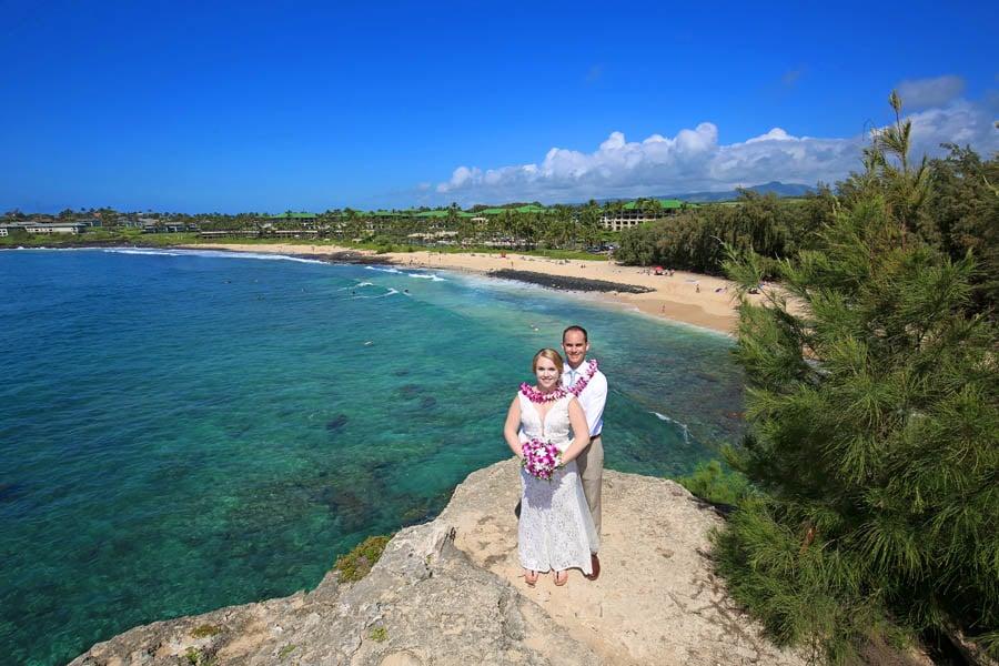 Kauai Wedding at Shipwreck Beach 1-1