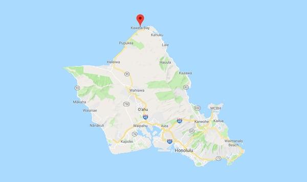 Kawela-Bay-Wedding-Location-Map