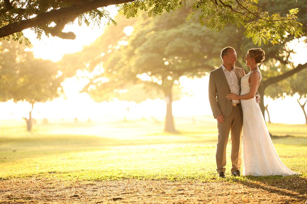 Magic Island wedding location on Oahu, Hawaii