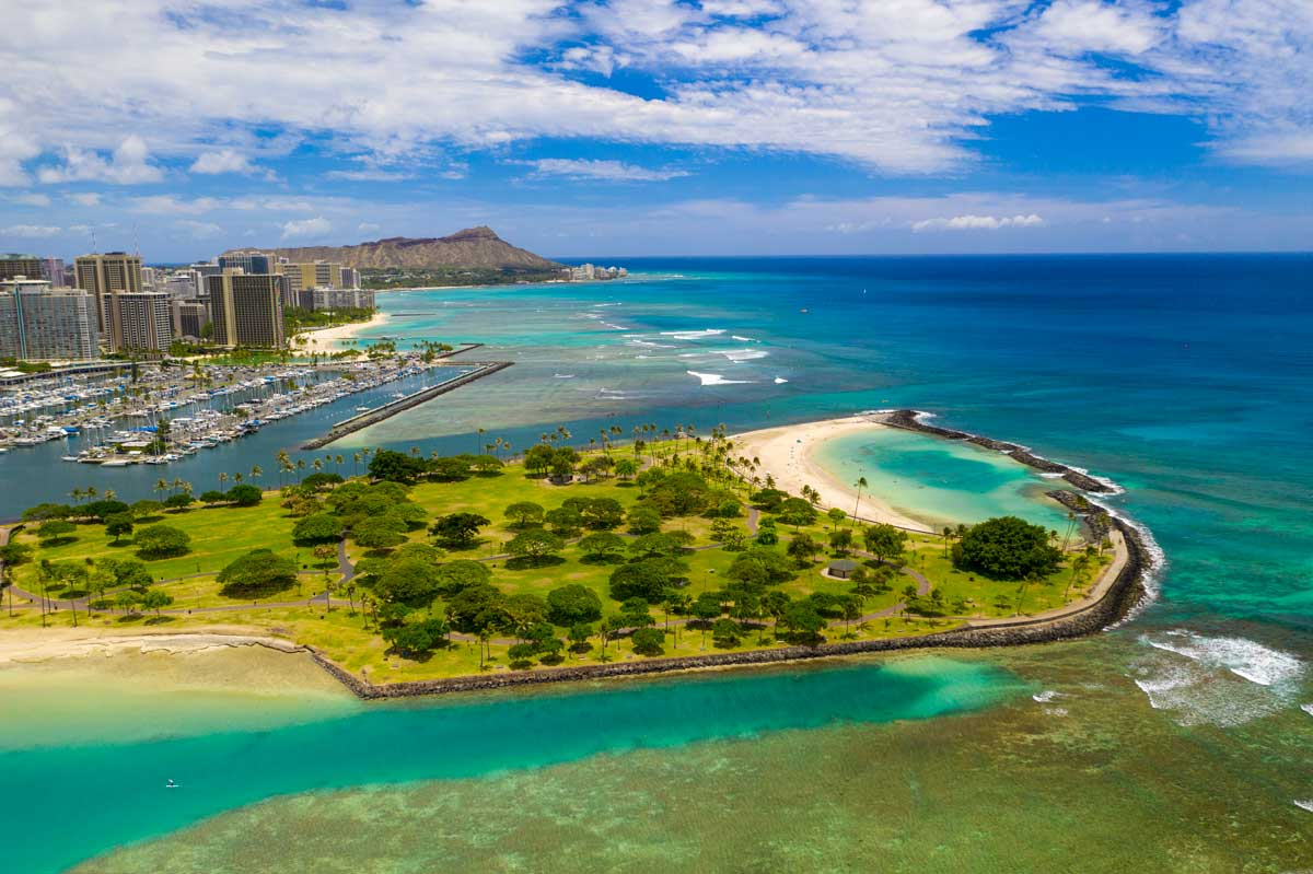 Magic-Island-and-Waikiki-from-Drone