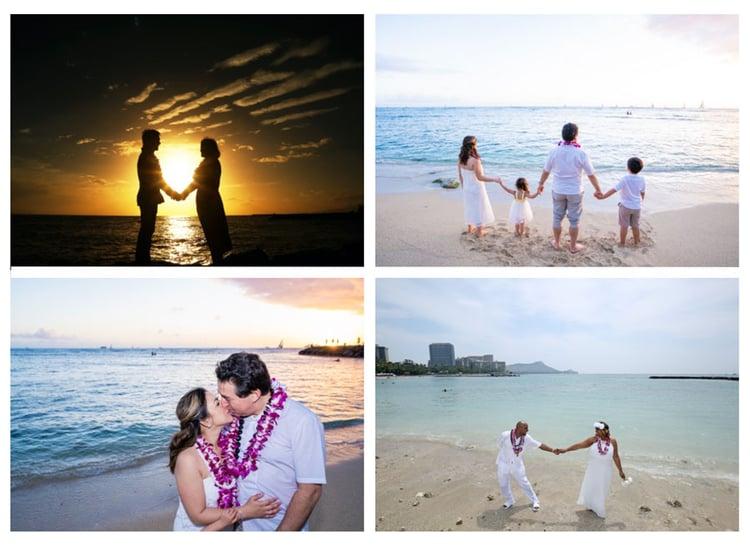 Newlyweds-after-Waiakiki-Beach-Wedding