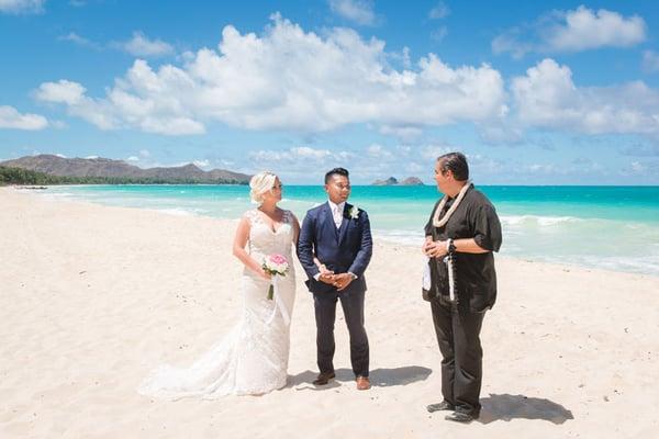 Wedding at Sherwood Forest Beach, Hawaii
