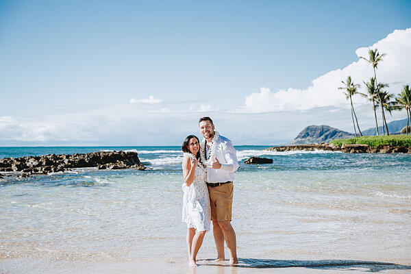 Paradise Cove Beach Hawaii WeddingJ&K-110