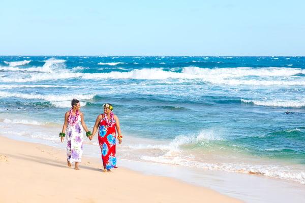 Sandy-Beach-Hawaii-Same-Sex-Wedding-Couple