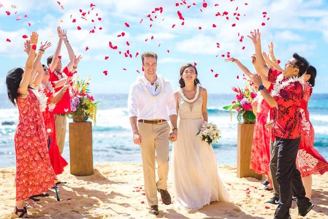 Hawaii Micro Wedding Flower Shower