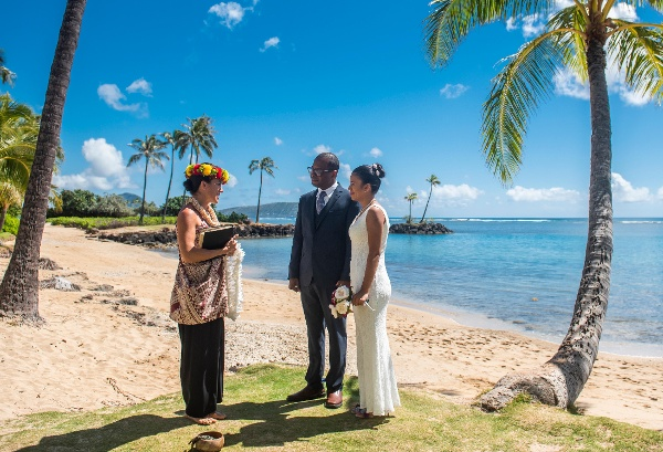 Waialae Beach Hawaii Wedding Location