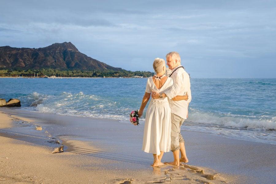 A Waikiki Beach wedding ceremony