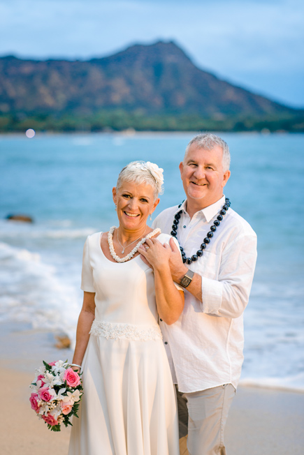 A wedding at Waikiki Beach, Oahu
