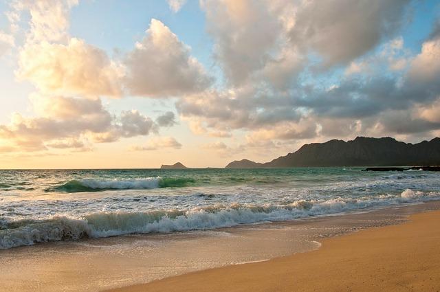 Sunrise at a popular Hawaiian beach wedding location