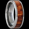 Koa Wood/Tungsten Wedding Rings