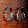 Koa Wood/Titanium Wedding Rings