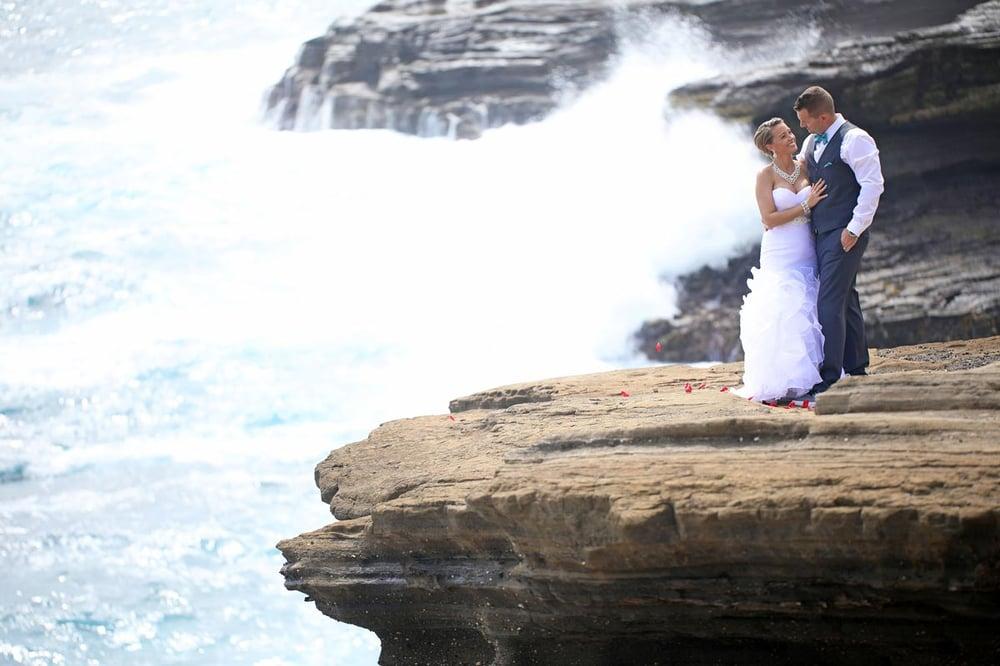A Gardenia package wedding ceremony on Oahu, Hawaii