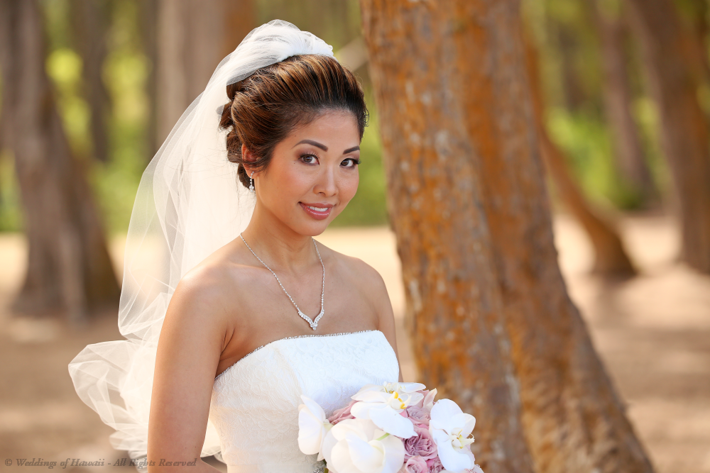 Hair and makeup services for a bride in Hawaii