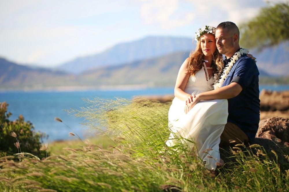 Paradise Cove Beach wedding location on Oahu, Hawaii