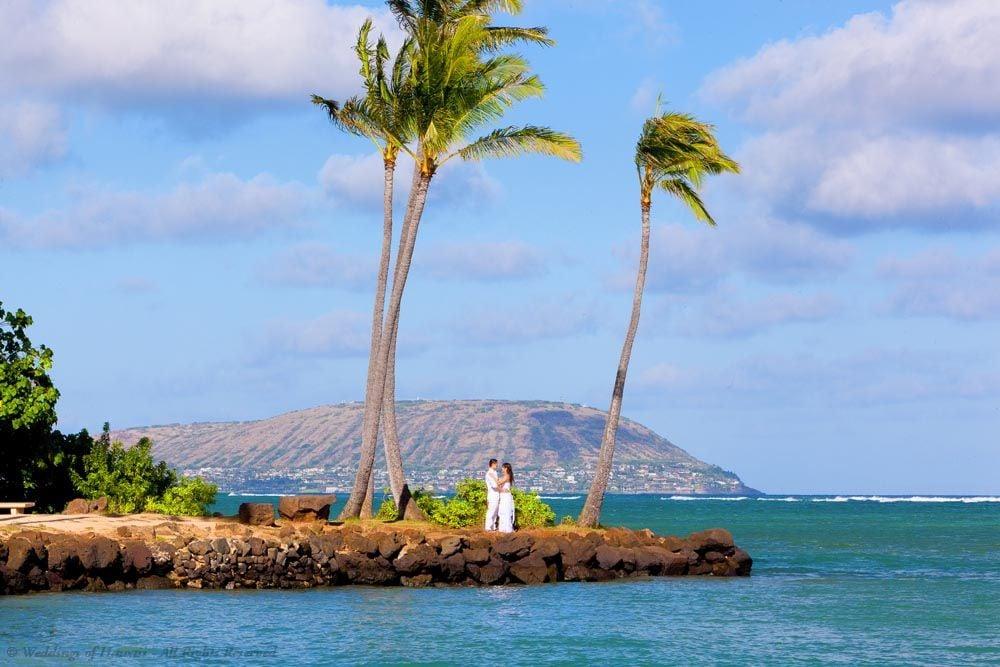 Waialae Beach wedding location on Oahu, Hawaii