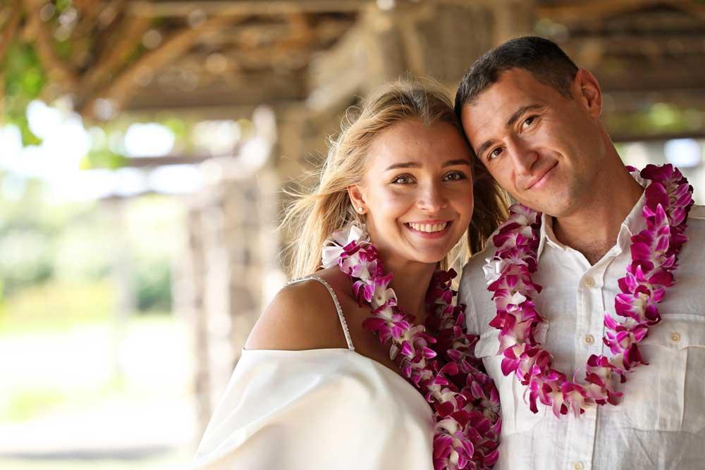 Hawaii wedding leis