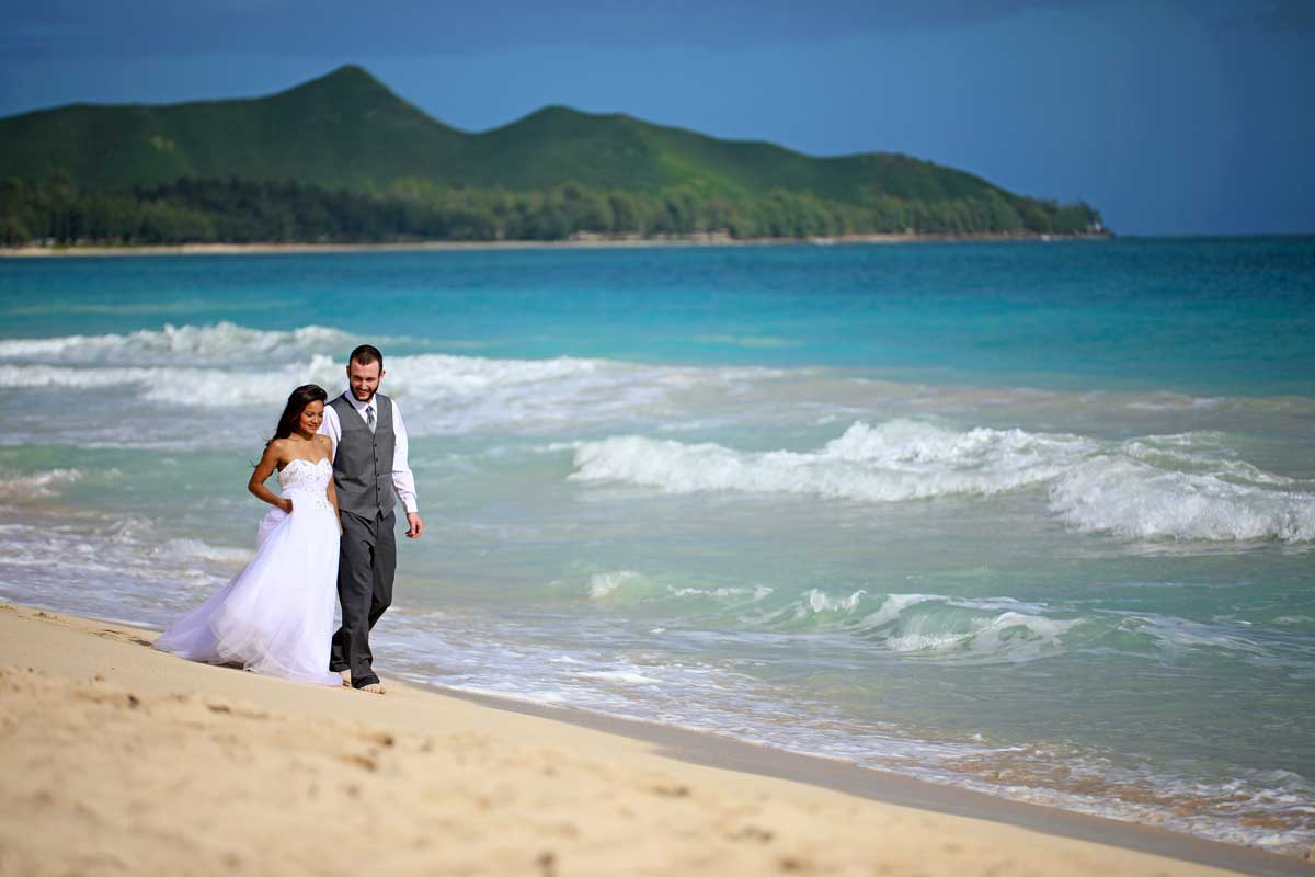 Hawaii Beach Wedding in January at Sherwood Forest