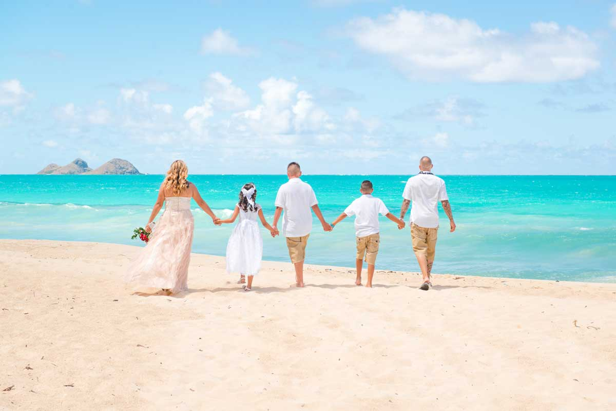 Hawaii Beach Wedding in June at Sherwood Forest Beach