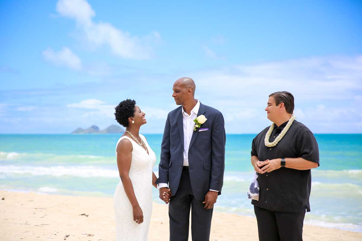Hawaii Beach Wedding in May at Sherwood Forest Beach
