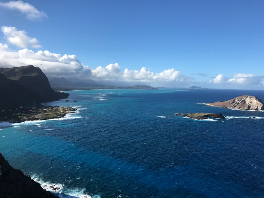 Overlook of Waimanalo Beach