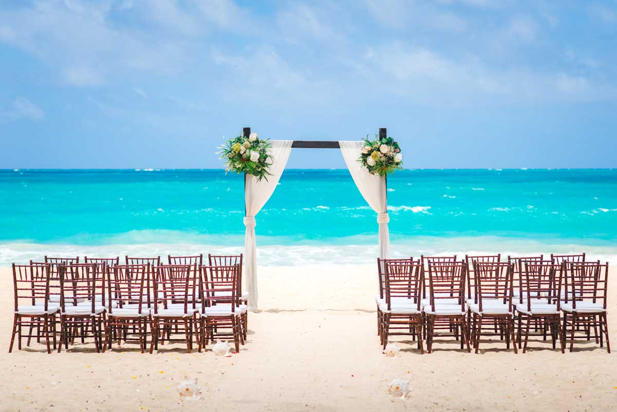 Waimanalo Beach Wedding Arch and Chairs