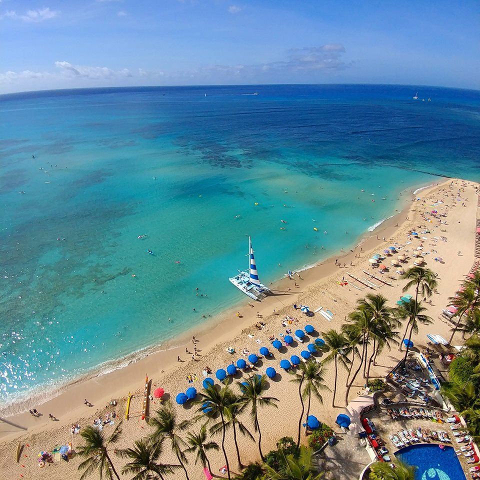 Waikiki Beach from the Outrigger